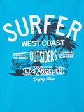 NIEUW !!! Aqua blauw T-shirt vux (Name It)_