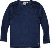 Blauwe longsleeve (Indian Blue Jeans) OUTLET_