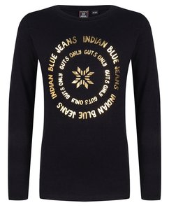 T-shirt LS logo (Indian Blue Jeans) OUTLET