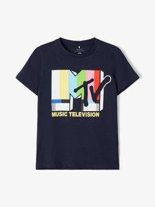 NIEUW !!! Blauw T-shirt MTV (Name It)
