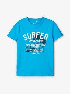 NIEUW !!! Aqua blauw T-shirt vux (Name It)