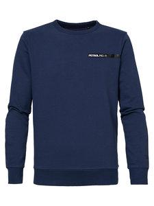 NIEUW !! Sweater R-neck petrolblue (Petrol Industries)