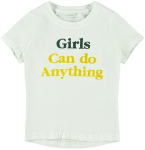 NIEUW !!!  T-shirt Exhale snow white (Name It)