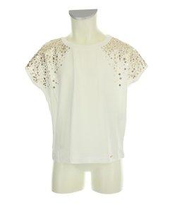 T-shirt M/C paillettes snow white/gold (Liu Jo) OUTLET