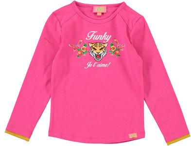 Longsleeve j' t'aime fuchsia (Funky XS)